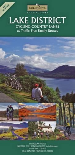 Lake District: Cycling Country Lanes - Goldeneye Cyclinguides (Sheet map, folded)