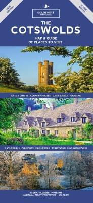 The Cotswolds Map & Guide: Of Places to Visit - Goldeneye Mapguides 1 (Hardback)