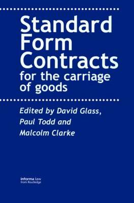 Contracts for the Carriage of Goods (Paperback)