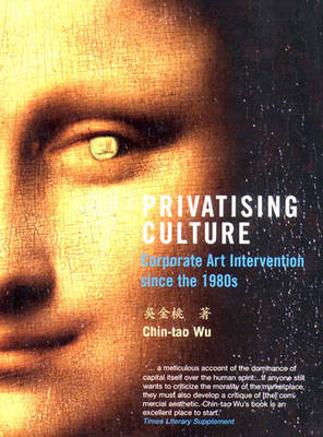 Privatising Culture: Corporate Art Intervention Since the 1980s (Paperback)