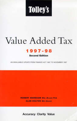 Tolley's Value Added Tax: 1997-98: 2nd Edition (Paperback)