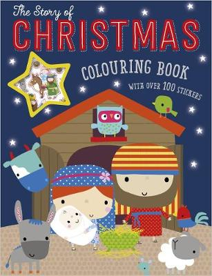 The Story of Christmas Colouring Book (With Over 100 Stickers) (Paperback)