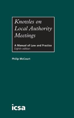 Knowles on Local Authority Meetings (Hardback)
