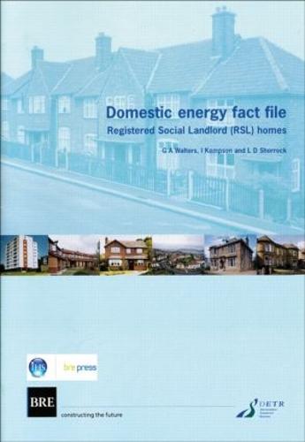 Domestic Energy Fact File: Registered Social Landlord (RSL) Homes (BR 411) (Paperback)