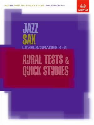 Jazz Alto Sax CD Level/Grade 5: North American edition - ABRSM Exam Pieces (CD-Audio)