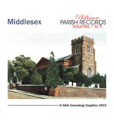 Middlesex Parish Records: All 9 Volumes of Phillimore's Middlesex Parish Records Transcripts v. 1: Marriage Registers - Phillimore's Parish Register S. (CD-Audio)