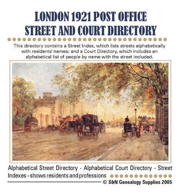London Post Office Street and Court Directory 1921: Vol. 1 (CD-ROM)