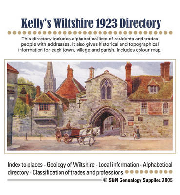 Kelly's Wiltshire 1923 Directory (CD-ROM)