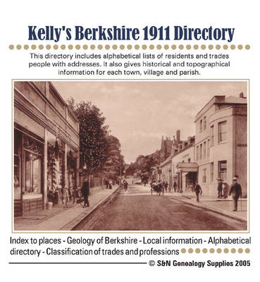 Kelly's Berkshire 1911 Directory (CD-ROM)
