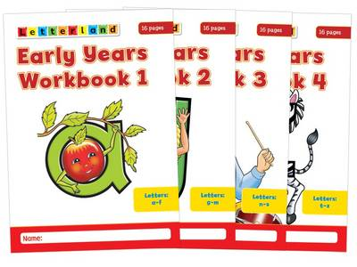 Early Years Workbooks: No. 1-4 - Letterland S. (Paperback)