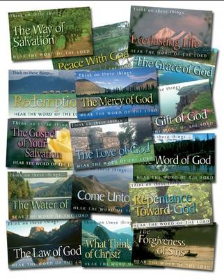 Mixed Pack of Scripture Leaflet Tracts (160 Tracts): Think of These Things - Hear the Word of the Lord - Scripture Leaflet Tracts