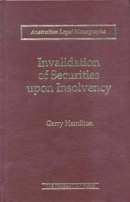 Invalidation of Securities upon Insolvency (Hardback)