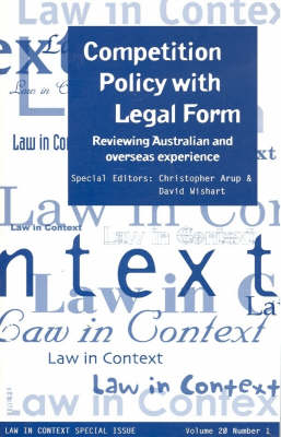 Competition Policy with Legal Form (Paperback)