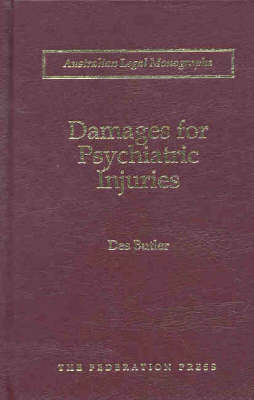 Damages for Psychiatric Injuries (Hardback)