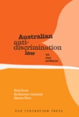 Australian Anti-Discrimination Law (Paperback)