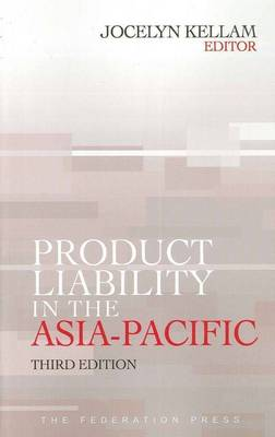 Product Liability in the Asia-Pacific (Paperback)