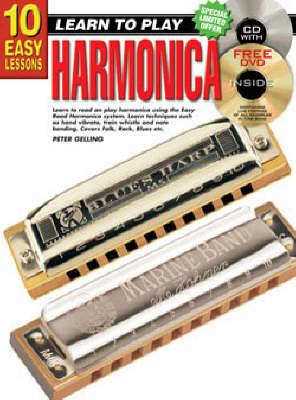 10 Easy Lessons Harmonica Bk/CD: Harmonica Bk/CD/DVD (Paperback)