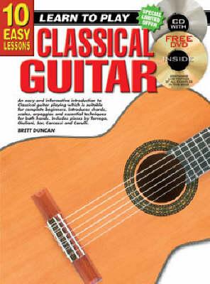 10 Easy Lessons Classical Guitar Bk/CD (Paperback)