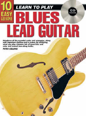 10 Easy Lessons Blues Lead Tech Bk/CD: Classical Guitar Bk/CD/DVD (Paperback)