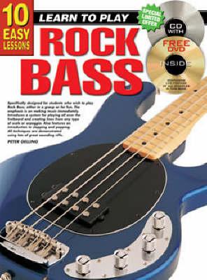 10 Easy Lessons Rock Bass Bk/CD: Rock Bass Bk/CD/DVD (Paperback)