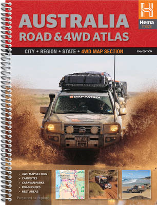Australia Road & 4WD Atlas: HEMA.A.040SP (Spiral bound)