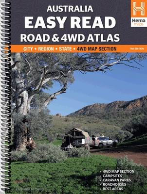 Australia Easy Read Road and 4WD atlas A3 2015: HEMA.A.041SP (Spiral bound)