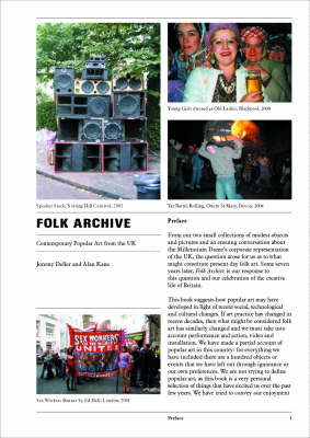 Folk Archive: Contemporary Popular Art from the UK - Opus Projects No. 5 (Paperback)