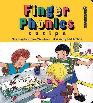 Finger Phonics book 1: in Precursive Letters (BE) - Jolly Phonics: Finger Phonics (Board book)