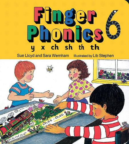 Finger Phonics book 6: in Precursive Letters (BE) - Jolly Phonics: Finger Phonics (Board book)