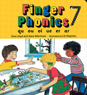 Finger Phonics book 7: in Precursive Letters (BE) - Jolly Phonics: Finger Phonics (Board book)