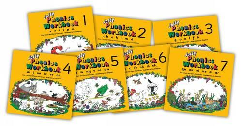 Jolly Phonics Workbooks 1-7: in Precursive Letters (Paperback)