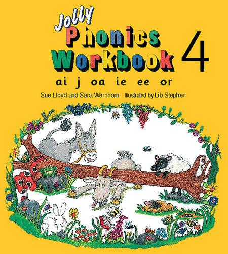 Jolly Phonics Workbook 4: in Precursive Letters (British English edition) - Jolly Phonics: Workbook (Paperback)