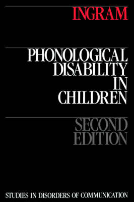 Phonological Disability in Children (Paperback)