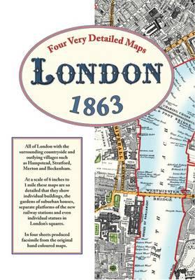 London Street Maps 1863 (Sheet map, folded)