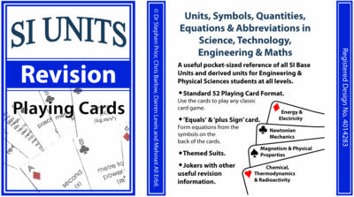 Si units revision playing cards units symbols quantities equations abbreviations in science technology engineering maths si units revision playing cards units symbols quantities equations publicscrutiny Gallery