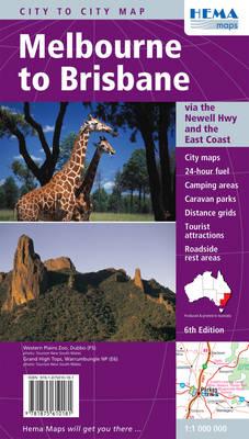 Melbourne to Brisbane (Newell Hwy) 2009: HEMA.2.140 (Sheet map, folded)