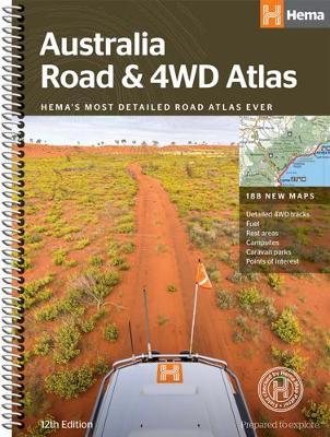 Australia Road and 4WD atlas spiral 2018 (Spiral bound)