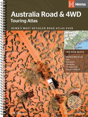 Australia Road and 4WD touring atlas A4 2018 (Spiral bound)