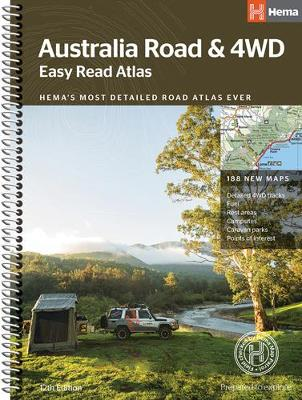 Australia Easy Read Road and 4WD atlas A3 2018 (Spiral bound)