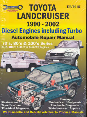 Toyota Landcruiser 1990-2002 Diesel Engines Including Turbo: 70's, 80's, and 100's Series: Automobile Repair Manual (Paperback)