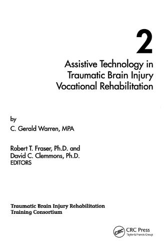 Assistive Technology in Traumatic Brain Injury Vocational Rehabilitation (Paperback)