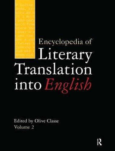 Encyclopedia of Literary Translation into English (Hardback)