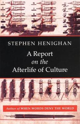 A Report on the Afterlife of Culture (Paperback)