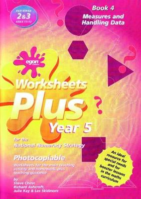 Worksheets Plus for the National Numeracy Strategy Year 5: Book 4: Measures and Handling Data - Worksheets Plus