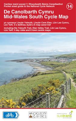 Mid Wales South Cycle Map (Sheet map)