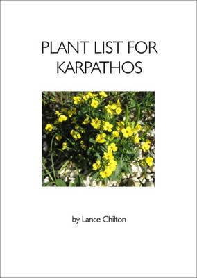 Plant List for Karpathos: (Greece - South Aegean) (Paperback)