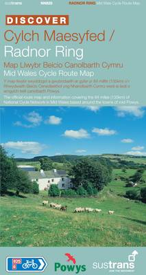 Radnor Ring Mid Wales Cycle Route Map - Sustrans National Cycle Network Discover Series Route NN825 (Sheet map, folded)