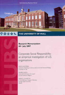Corporate Social Responsibility: An Empirical Investigation of U.S. Organisations - Research Memorandum v. 68 (Paperback)