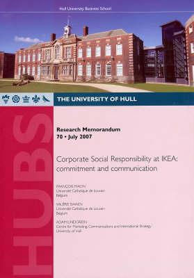 Corporate Social Responsibility at IKEA: Commitment and Communication - Research Memorandum v. 70 (Paperback)