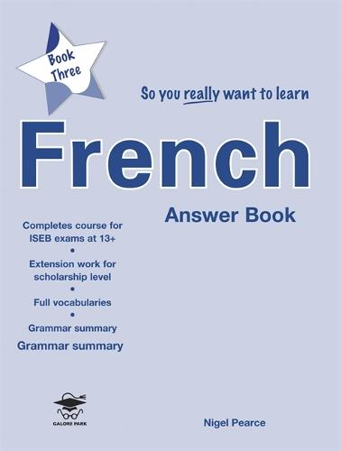 So You Really Want to Learn French Book 3 Answer Book (Paperback)